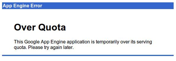 App Engine overquota