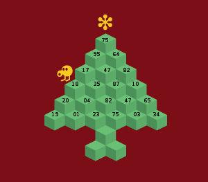 qbert chrismas tree coding puzzle